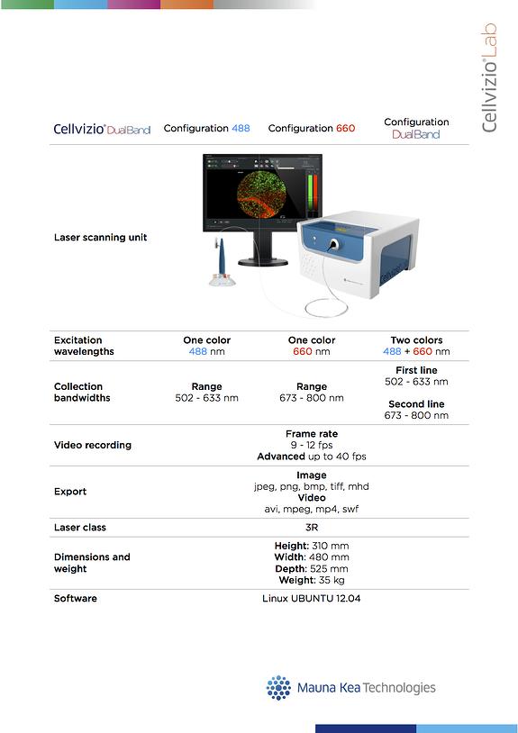 Cellvizio Lab technical sheets